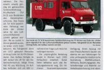 Unimog im Feuerwehrmagazin vorgestellt