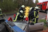 Feuerwehren Höchen und Oberbexbach probten den Ernstfall