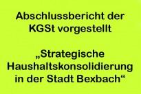 Gutachten zur strategischen Haushaltskonsolidierung vorgestellt