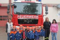 Der Kindergarten zu Besuch bei der Höcher Feuerwehr