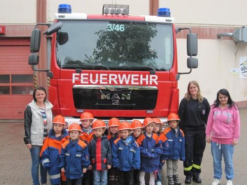 Kindergartenkinder besuchten die Feuerwehr