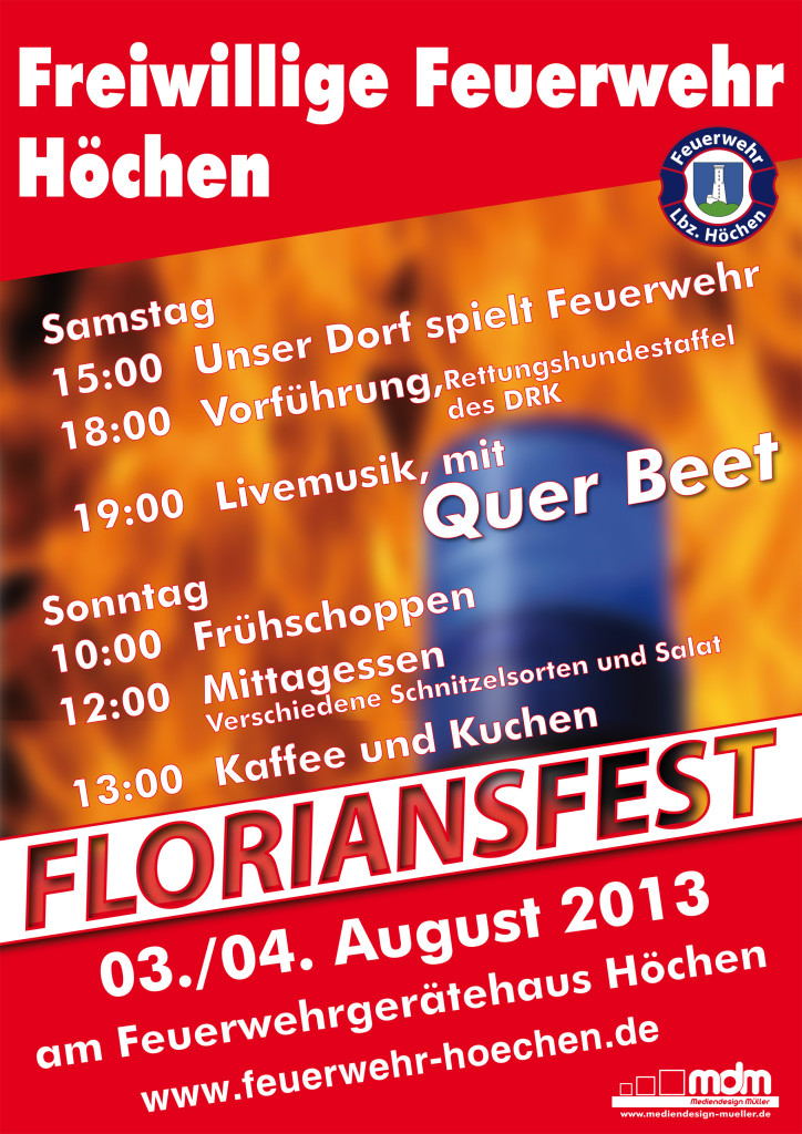 Plakat Floriansfest 2013