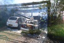 Brand zweier PKW im Ortskern