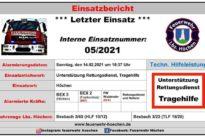 """Einsatz Nr. 05/2021 – """"Unterstützung Rettungsdienst"""""""