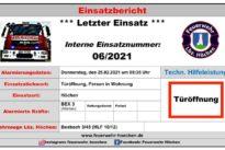"""Einsatz Nr. 06/2021 – """"Türöffnung"""""""