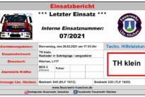 """Einsatz Nr. 07/2021 """"TH klein"""""""