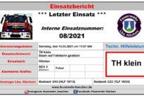 """Einsatz Nr. 08/2021 – """"TH klein"""""""