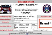 """Einsatz Nr. 17/2021 – Brand 4 """"Wohnhausbrand mit Menschenrettung"""""""