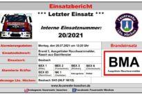 """Einsatz Nr. 20/2021 – Brand 3 """"Ausgelöster Rauchwarnmelder – Rauch aus Dachfenster"""""""