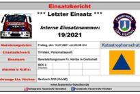 """Einsatz Nr. 19/2021 – TH klein """"Personaltausch Katastropheneinsatz RLP"""""""
