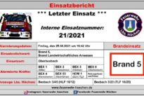 """Einsatz Nr. 21/2021 – Brand 5 """"Brand Landwirtschaftliches Anwesen"""""""