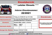 """Einsatz Nr. 22/2021 – Brand 5 """"Grundschutz Stadt Bexbach herstellen"""""""